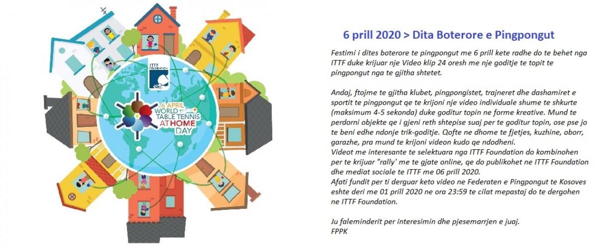 Dita Boterore e Pingpongut >> 06 Prill 2020