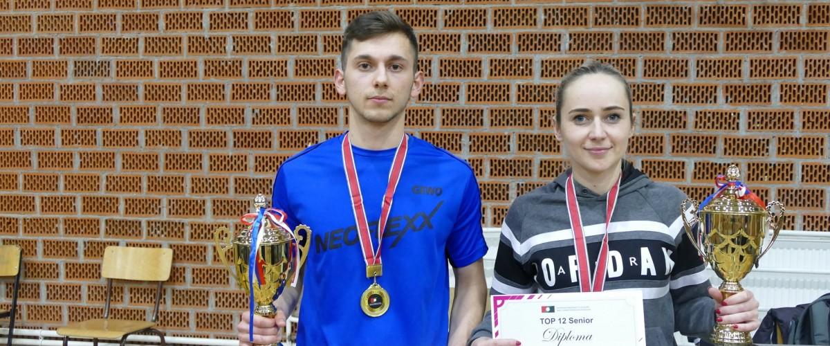 Kreshnik MAHMUTI dhe Linda ZEQIRI kampion te turneut TOP 12 (M) dhe TOP 8 (F) per Senior