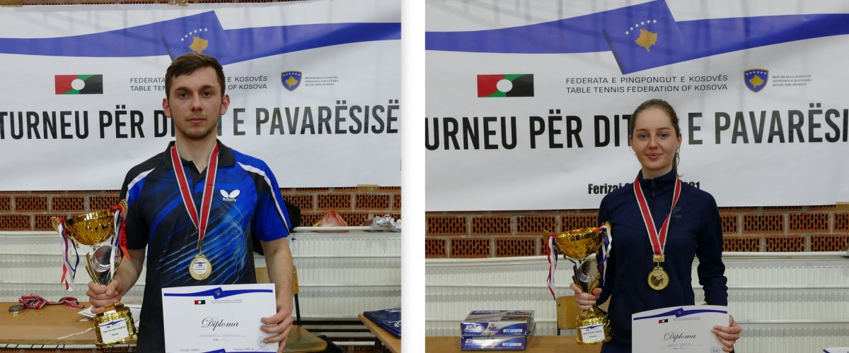 Kreshnik Mahmuti dhe Hanife Zeqiri kampion të turneut për Ditën e Pavarësisë