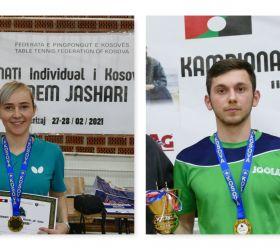 Kreshnik Mahmuti dhe Linda Zeqiri kampion në Kampionatin individual për Senior