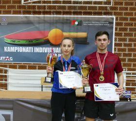 Kreshnik Mahmuti dhe Alma Mehmeti kampion në Kampionatin Individual për U21